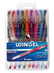 Pilot Wingel 0.7mm Gel Pens - Wallet of 9 Colours