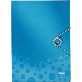 Leitz Bebop 3 Flap Folder A4 - Blue