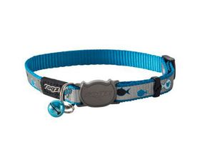 Rogz - Catz ReflectoCat Extra-Small Reflective Safeloc Breakaway Cat Collar - Blue