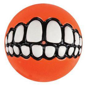 Rogz Grinz Small Dog Treat Ball - Orange