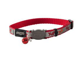 Rogz Catz ReflectoCat Small Reflective Safeloc Breakaway Cat Collar - Red