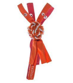 Rogz Cowboyz Medium Dog Knot Chew Toy - Orange