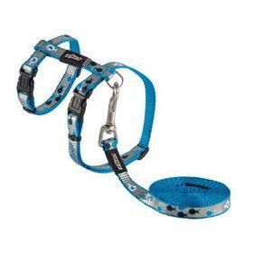 Rogz Catz ReflectoCat Small Reflective Cat H-Harness And Lead Combination - Blue