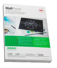 GBC Document Matt Laminating Pouches - A4 150(2x75)micron (100 Pack)