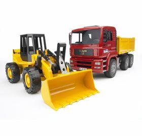 Bruder MAN TGA Construction Truck with Road Loader FR130