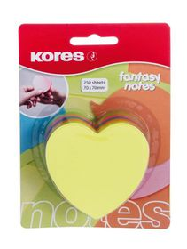 Kores Fantasy Heart Notes - Neon Colours (250 Sheets)