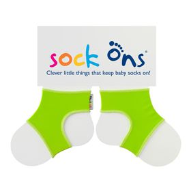 Sock Ons - Bright Green Baby Socks - (Size: 6 - 12 months)