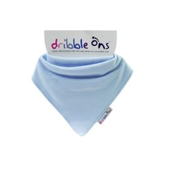 Dribble Ons - Classic Baby Bib - Baby Blue