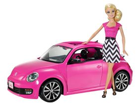 Barbie Vehicles New VW Beetle with Doll