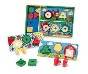 Melissa & Doug Sort, Match, Attach Nuts & Bolts Board