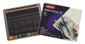 Derwent Watercolour Pencils - Tin of 24