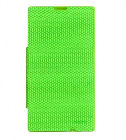 Mozo Nokia Lumia 520 Flip Cover - Green