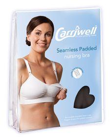 Carriwell - Seamless Padded Adjustable Nursing Bra - Black - Size: Extra Large