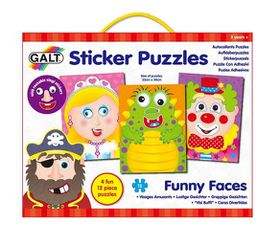 Galt Toys Shaped Funny Faces Puzzle Set