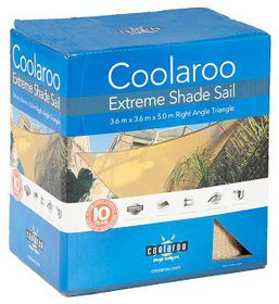 Coolaroo - Extreme Shade Sail Right Angle Triangle - Desert Sand