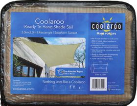 Coolaroo - Ready To Hang Shade Rectangle Sail - Southern Sunset