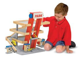 Melissa & Doug Wooden Parking Garage