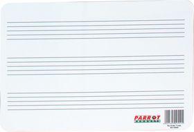 Parrot Plastic 297x210mm Music Lines Writing Slate