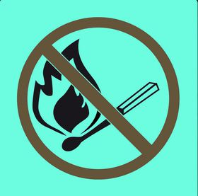 Tower Photoluminescent Sign - No Naked Flame (Small)