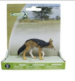 CollectA Wild Platform Black - Backed Jackal