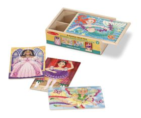 Melissa & Doug Fanciful Friends Puzzles in a Box - 12 Piece