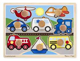 Melissa & Doug Vehicles Jumbo Knob Puzzle