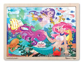 Melissa & Doug Mermaid Fantasea Wooden Jigsaw Puzzle - 48 Piece