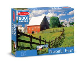 Melissa & Doug Peaceful Farm Jigsaw Puzzle - 500 Piece