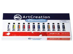 ArtCreation Expression Acrylic Colour 12 x 12ml Set