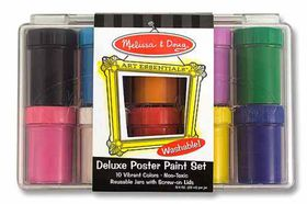 Melissa & Doug Deluxe Poster Paint Set - 10 Bottles