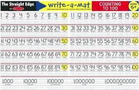 Melissa & Doug Counting to 100 - Write-A-Mat - Bundle of 6