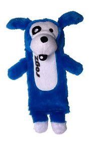 Rogz Thinz Small 20cm Plush Refillable Squeak Dog Toy - Blue