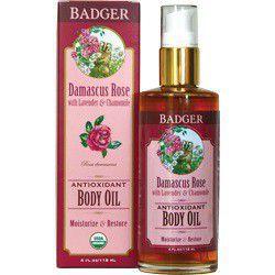 Badger Organice Damascus Rose Antioxidant Body Oil