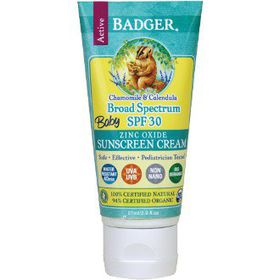 Badger SPF 30 Baby Sunscreen Cream - Chamomile and Calendula