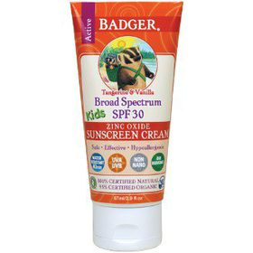 Badger SPF 30 Kids Sunscreen Cream - Tangerine & Vanilla