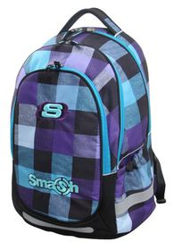 Smash Large Orthopaedic Super Light 3 Division Framed Backpack - Blue & Grey