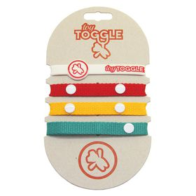 ToyToggle - Unisex Africa Baby Toy Straps - Teal - Golden Yellow and Red