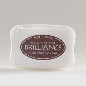 Tsukineko Brilliance Ink Pad - Pearlescent Chocolate