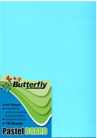 Butterfly A4 Pastel Board 10s - Blue