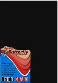 Butterfly A4 Bright Board 10s - Black