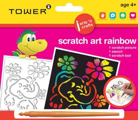 Tower Kids Scratch Art Rainbow - Elephant