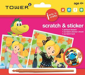 Tower Kids Scratch & Sticker - Girl