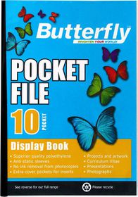 Butterfly Pocket File A4 - 10 Page