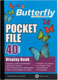 Butterfly Pocket File A4 - 40 Page