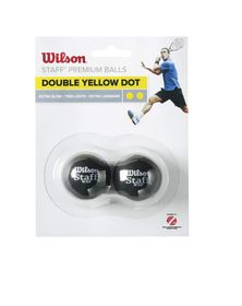 Wilson Ultra Double Yellow Squash Ball - 2 Pack