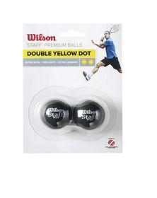 Wilson Ultra Double Yellow Squash Ball - 2 Pack
