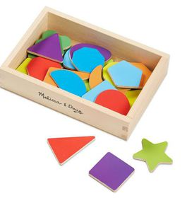 Melissa & Doug Magnetic Wooden Shapes and Colours