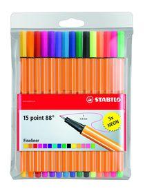 Stabilo Point 88 Fineliners (Wallet of 15)