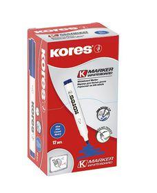 Kores Whiteboard Marker Bullet Tip - Blue (Box of 12)