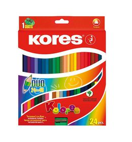 Kores Duo 24 Coloured Pencils